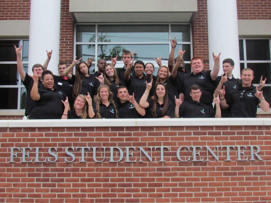 Group photo of the BOLT18 leaders on the front steps of the Fels Center